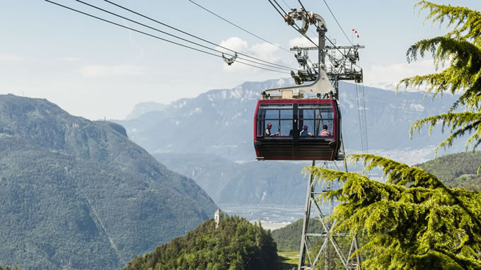 Renon cable car & train